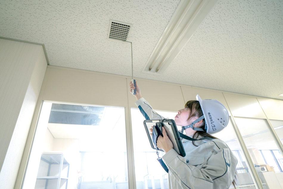 目盛り付きのI・L型伸縮プローブ・単体で天井高2700mmまで計測可能