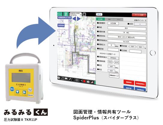 設備配管工事における品質管理の向上と、圧力試験の記録整理・作成作業の効率化に。