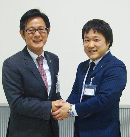 三菱重工冷熱株式会社菊池社長と株式会社レゴリス酒寄事業部長