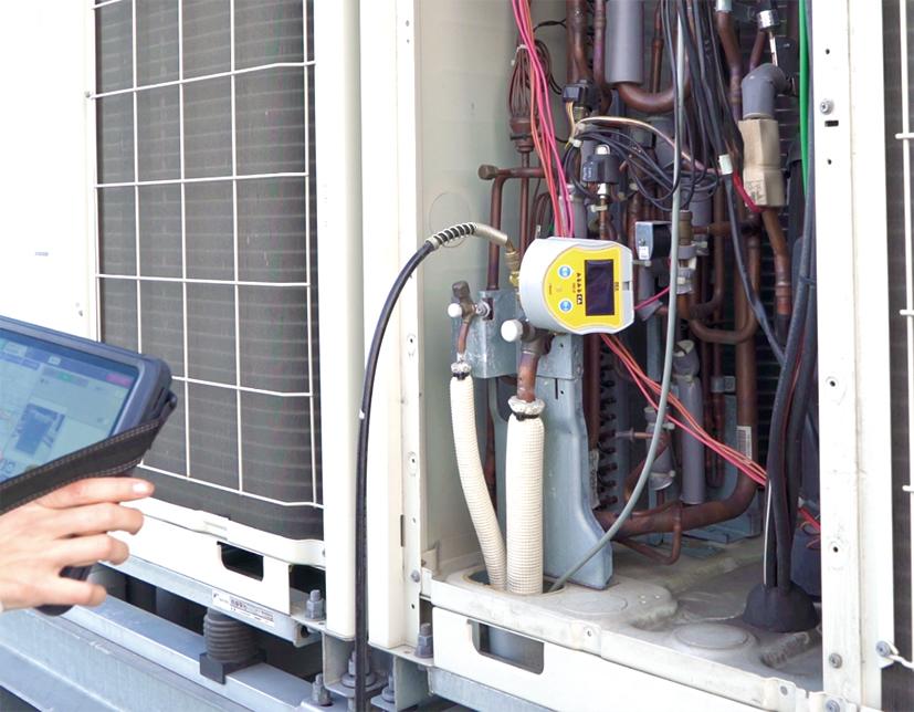 冷媒気密試験が行えるレッキス工業圧力試験器Ⅲ TKR12Pに対応した 「圧力計連携機能」