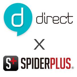 SPIDERPLUSの検査結果をdirectで共有することができる